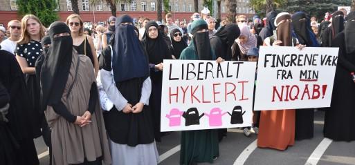 Denmark: Thousands march against veil ban