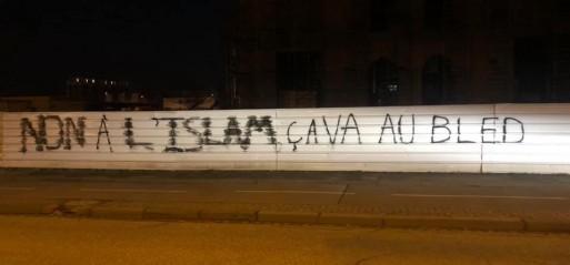 French mosque vandalized with Islamophobic graffiti