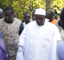 Gambia's president-elect takes oath at Senegal embassy