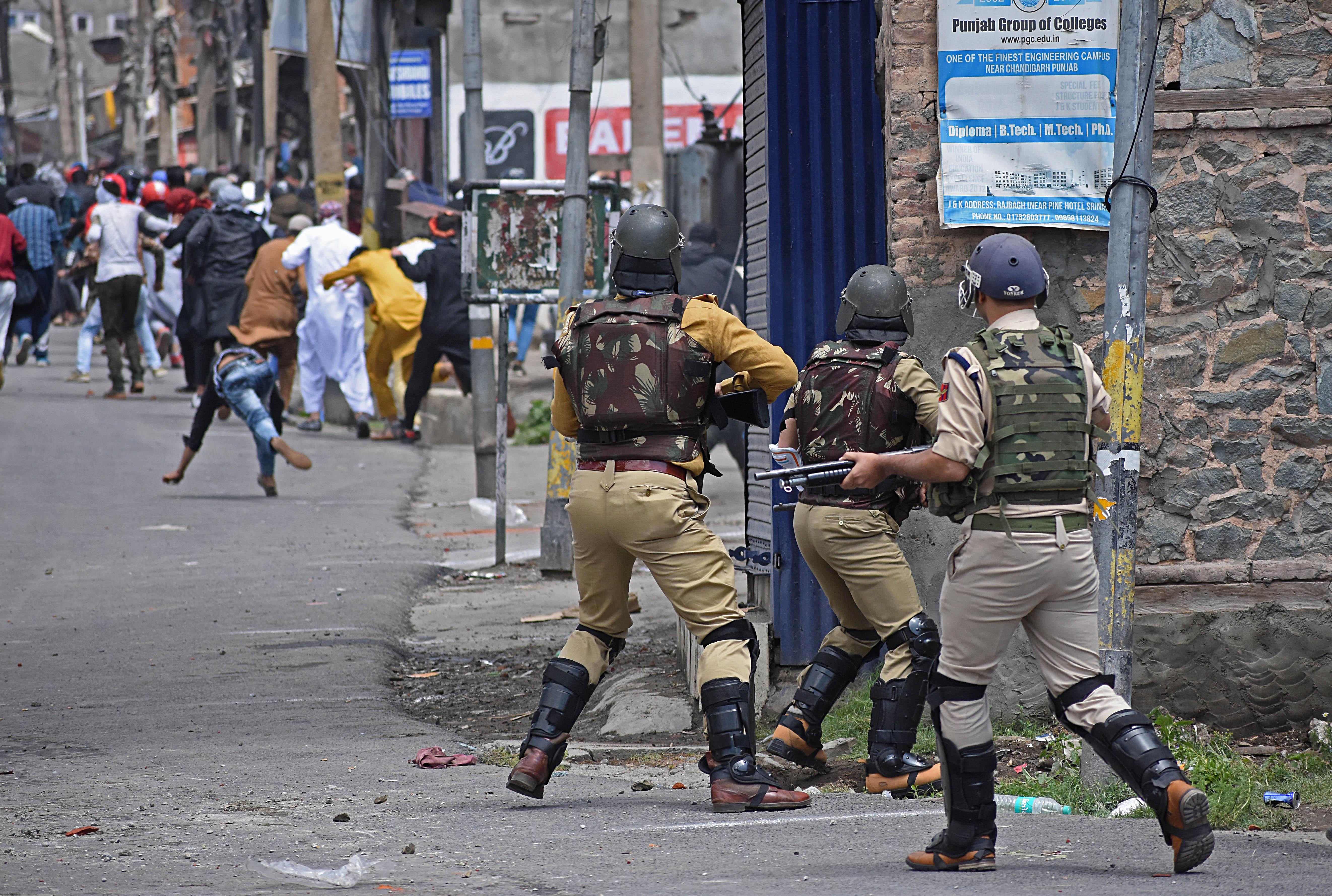 Jammu & Kashmir: One killed, hundreds injured in brutal clampdown by