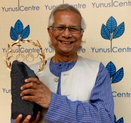 Nobel Laureate Muhammad Yunus awarded Olympic Laurel