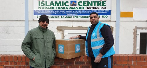 Muslim Hands begin to distribute 2,000 pieces of PPE to UK burial services