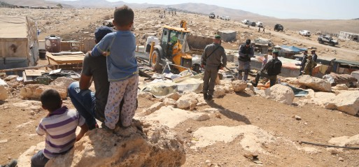 Palestine: Palestinians protest village Israeli demolition plans, evicting Bedouins