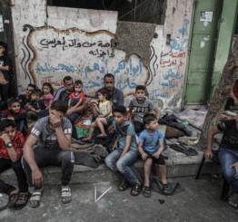 Israeli warplanes destroy civilian buildings killing 212 Palestinians, incl 61 children in Gaza