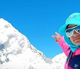 Ten-year-old mountaineer breaks world record
