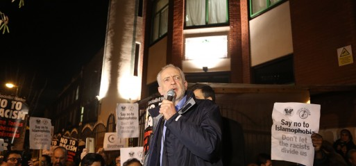 UK: Labour Party leader Corbyn joins anti-Islamophobia vigil