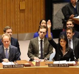 Palestine: Arab countries regret US veto of Jerusalem UN resolution